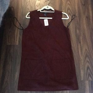 Forever 21 faux suede burgundy dress